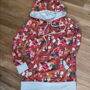 12 PM by Mon Ami Floral Hoodie